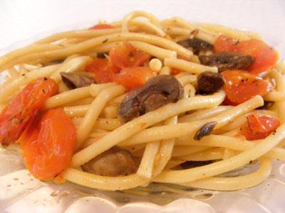 פסטה עם וודקה ופטריות